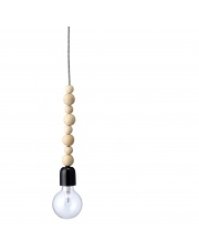 Lampa z drewnianymi kulkami - Bloomingville