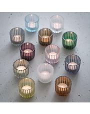 Świecznik szklany - różne kolory - Lyngby