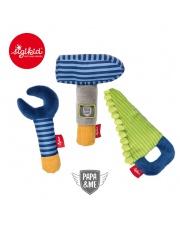 SIGIKID Miękki zestaw narzędzi z grzechotką, piszczałką i szeleszczącą folią Papa&Me
