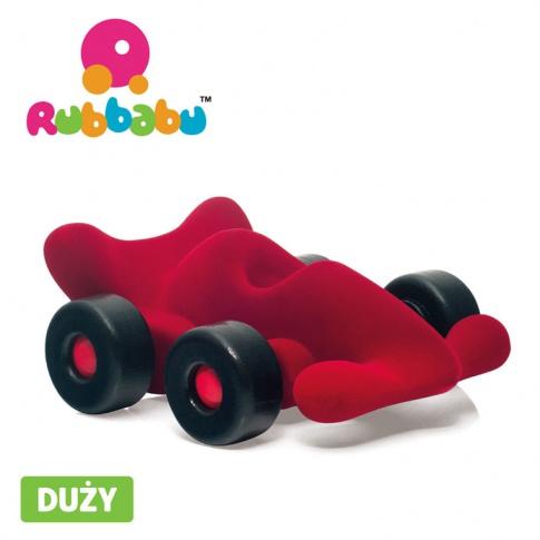 Fotografia, na której jest Rubbabu Bolid wyścigowy sensoryczny czerwony duży