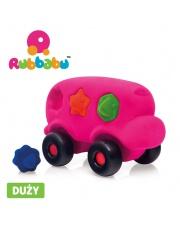 Rubbabu Autobus sorter z 6 klockami sensoryczny różowy