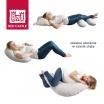 Fotografia, na której jest Ergonomiczna poduszka rogal dla kobiet w ciąży i karmiących Big Flopsy Fleur de coton Chalk pink, Red Castle