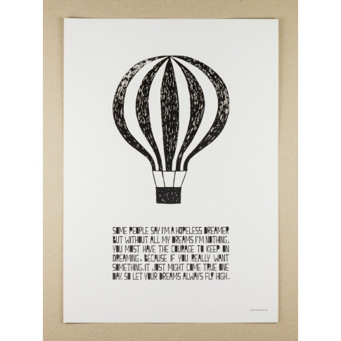 Fotografia, na której jest Plakat A3 Life Poster Balloon