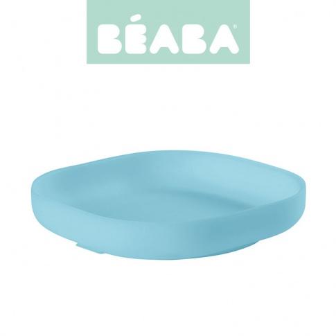 Fotografia, na której jest Beaba Silikonowy talerzyk z przyssawką blue