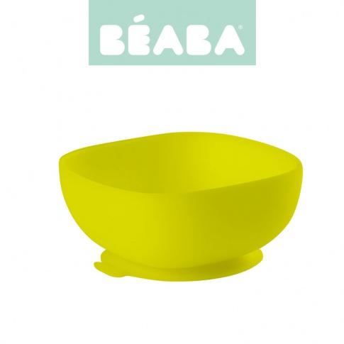 Fotografia, na której jest Beaba Silikonowa miseczka z przyssawką yellow
