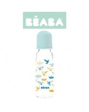 Beaba Butelka szklana 250 ml Origami blue