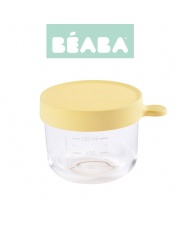Beaba Pojemnik słoiczek szklany z hermetycznym zamknięciem 150 ml yellow