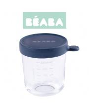 Beaba Pojemnik słoiczek szklany z hermetycznym zamknięciem 250 ml dark blue