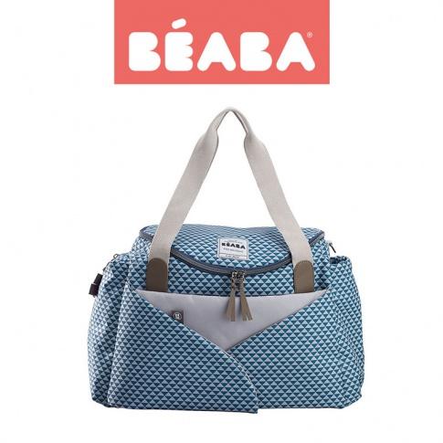 Fotografia, na której jest Beaba Torba dla mamy Sydney PLAY PRINT blue