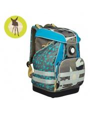 Lassig Plecak szkolny XL ze sztywnymi plecami, i wodoodpornym dnem Dino slate
