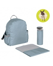 Lassig Marv Plecak z akcesoriami Backpack Tiles blue