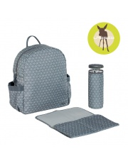 Lassig Marv Plecak z akcesoriami Backpack Tiles grey
