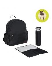 Lassig Marv Plecak z akcesoriami Backpack Black