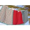 Fotografia, na której jest Lassig Ręcznik Poncho Peach Stars 120x60 cm UV 50+
