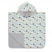 Fotografia, na której jest Lassig Ręcznik Poncho Paper Boat 120x60 cm UV 50+