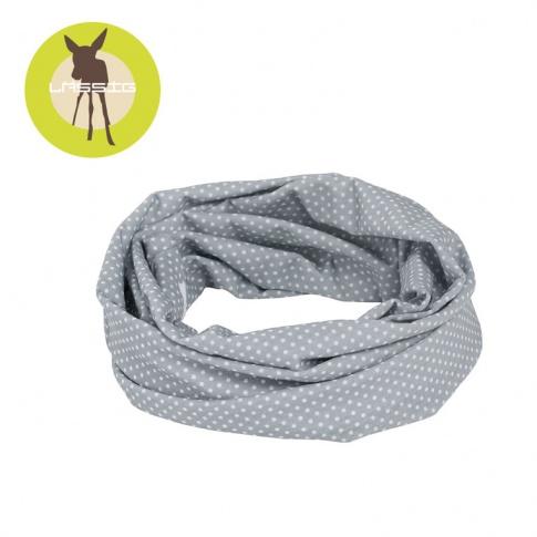 Fotografia, na której jest Lassig Opaska wielofunkcyjna Twister Coolmax® Polka Dots grey UV 40+