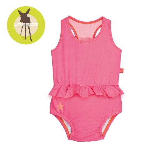 Fotografia, na której jest Lassig, Kostium do pływania jednocześciowy z pieluszką Light pink, UV 50+
