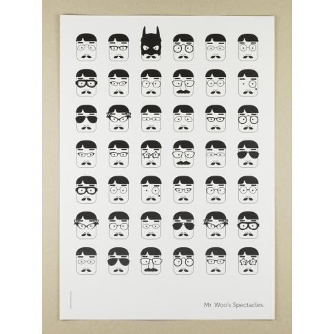 Fotografia, na której jest Plakat A3 Mr Woo's Spectacles