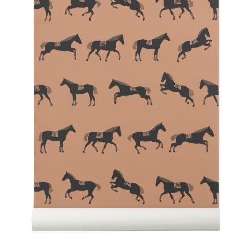 Fotografia, na której jest Tapeta dziecięca HORSE - ferm LIVING