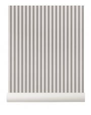 Tapeta skandynawska THIN LINES Grey/Off White - ferm LIVING