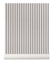 Tapeta skandynawska THIN LINES Grey/Off White - ferm LIVING