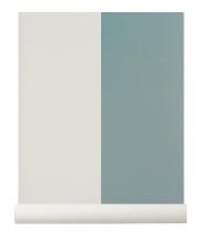Tapeta skandynawska THICK LINES Dusty Blue/Off White - ferm LIVING