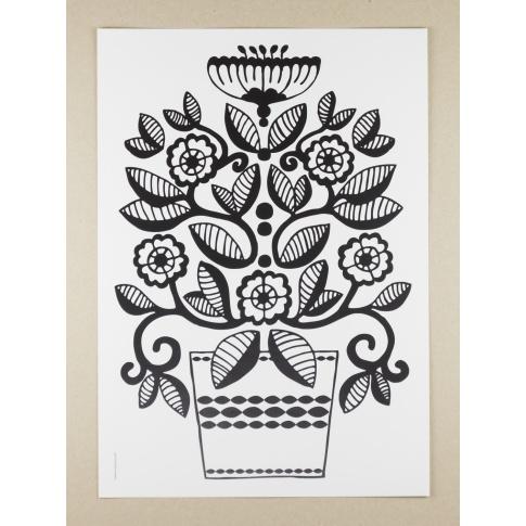 Fotografia, na której jest Plakat A3 Folklore Flower Lily