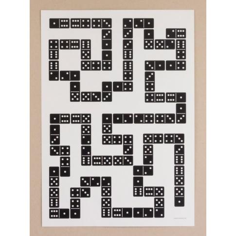 Fotografia, na której jest Plakat A3 Domino
