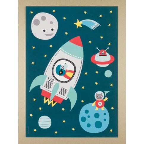 Fotografia, na której jest Plakat A3 Raketti