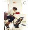 Fotografia, na której jest BABYBJORN - leżaczek BALANCE SOFT MESH - Czarny / Szary