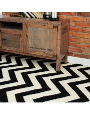 Wełniany dywan CHEVRON BLACK WHITE I - White Oaks