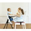 Fotografia, na której jest BABYBJORN High Chair - krzesełko do karmienia, białe