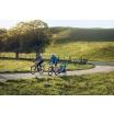 Fotografia, na której jest Przyczepka rowerowa dla dziecka - THULE Chariot Sport 1 - zielona/niebieska