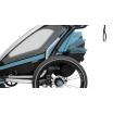 Fotografia, na której jest Przyczepka rowerowa dla dziecka - THULE Chariot Sport 2 - niebieska/czarna