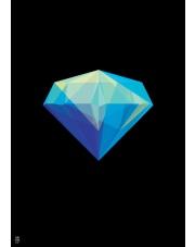 Plakat Diament czarny - Kinkallo