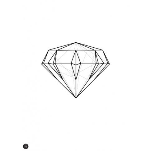 Fotografia, na której jest Plakat Diament linearny - Kinkallo