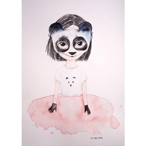 Fotografia, na której jest Plakat Panda - To The Moon