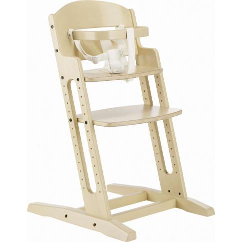 Fotografia, na której jest Krzesełko do karmienia Baby Dan DANCHAIR bielone