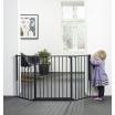 Fotografia, na której jest Baby Dan - Bramka ochronna FLEX M, czarny