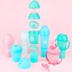 Fotografia, na której jest Herobility - butelka antykolkowa Herobottle 340 ml, różowa + smoczek L (4 m+)
