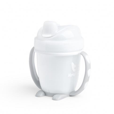 Fotografia, na której jest Herobility – kubek niekapek HeroSippy 140 ml, biały