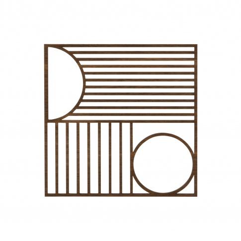Fotografia, na której jest Podkładka dębowa kwadratowa Outline - ferm LIVING