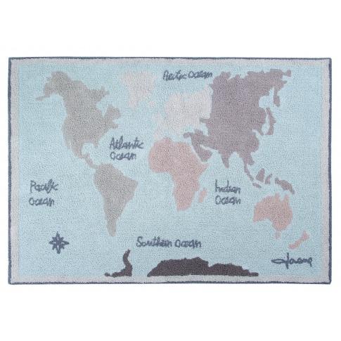 Fotografia, na której jest Dywan bawełniany Vintage Map / Mapa - Lorena Canals