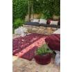 Fotografia, na której jest Kosz bawełniany z frędzlami  Fringes Savannah Red - Lorena Canals