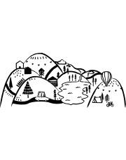 GÓRY CZARNE | naklejka do pokoju dziecięcego - Pastelowelove