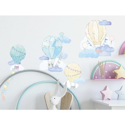 Fotografia, na której jest BALONY | naklejka do pokoju dziecięcego - różne kolory - Pastelowelove