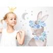 Fotografia, na której jest KRÓLIK | naklejka do pokoju dziecięcego - różne kolory - Pastelowelove