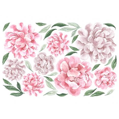 Fotografia, na której jest PIWONIE | naklejka do pokoju dziecięcego - różne kolory - Pastelowelove