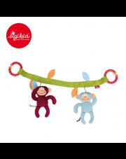 SIGIKID Miękki łańcuch do wózka Małpki - grzechotki