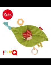SIGIKID Aktywizująca zawieszka Liść do fotelika lub wózka z gryzakiem, grzechotką, piszczałką i szeleszczącą folią 3m+ PlayQ